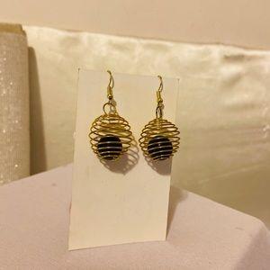 Handmade wire wrapped earrings